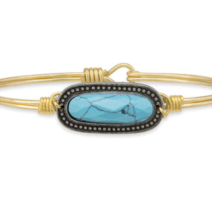 Harper Bangle in Turquoise Magnesite, Luca + Danni