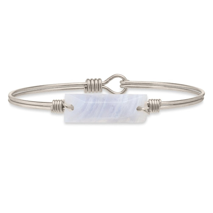 Soul Food Hudson Bangle, Blue Lace Agate - Luca + Danni