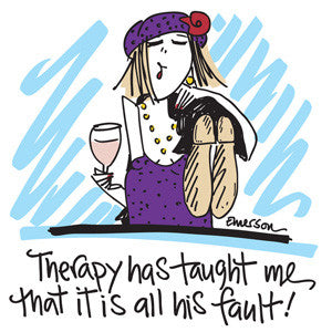 Therapy has Taught Me that it is All His Fault Nightshirt