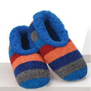 Snoozies-Blue Chenille