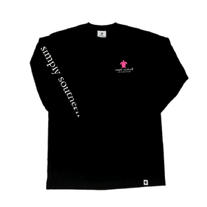 Simply Southern Black Logo Long Sleeve T-Shirt Front
