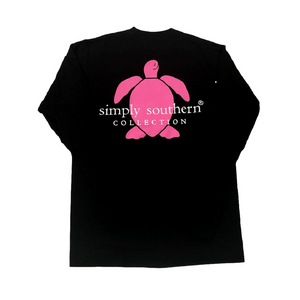 Simply Southern Black Logo Long Sleeve T-Shirt Back