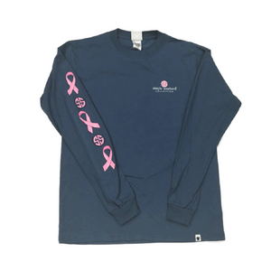 Simply Southern Breast Cancer Ribbon Long Sleeve T-Shirt Front