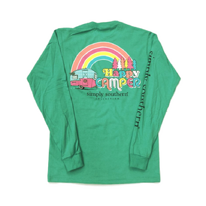 Simply Southern Happy Camper Long Sleeve T-Shirt Back