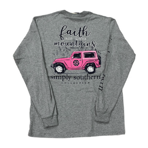 Simply Southern Jeep Long Sleeve T-Shirt Back