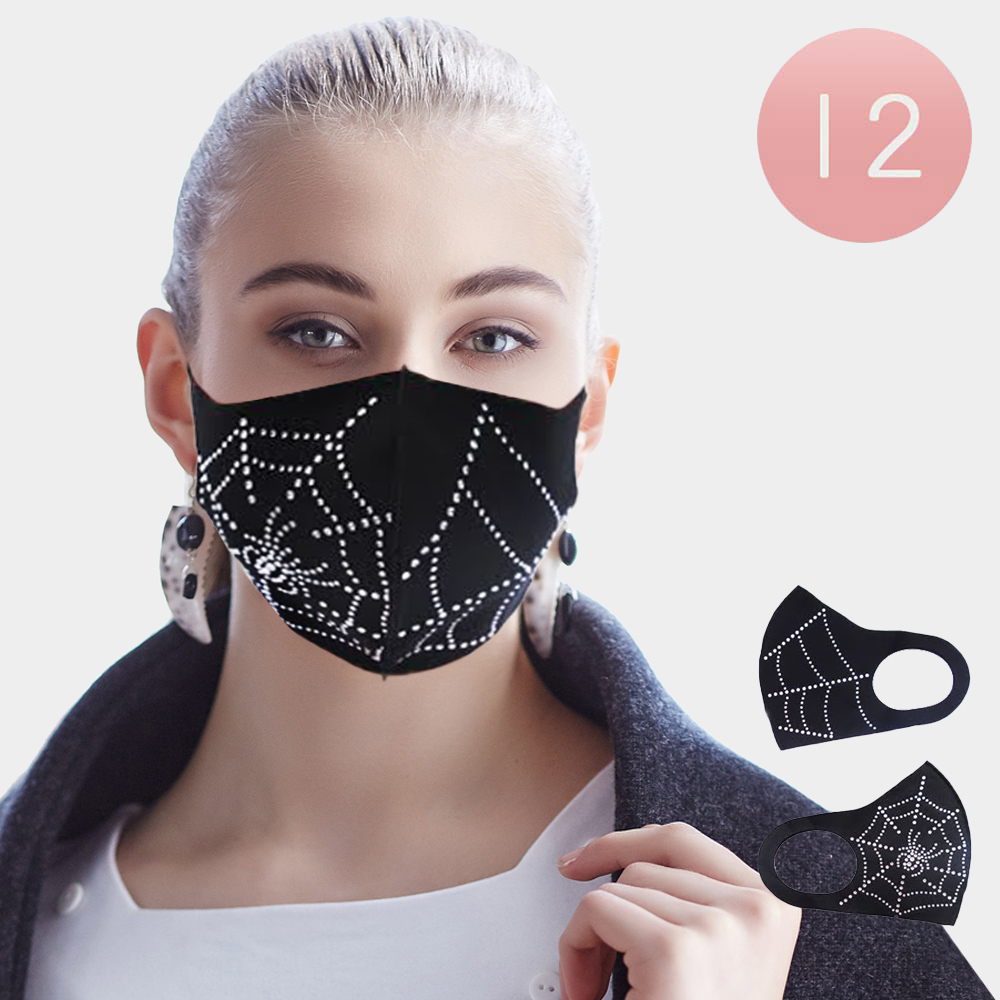 Spider Web Bling Mask