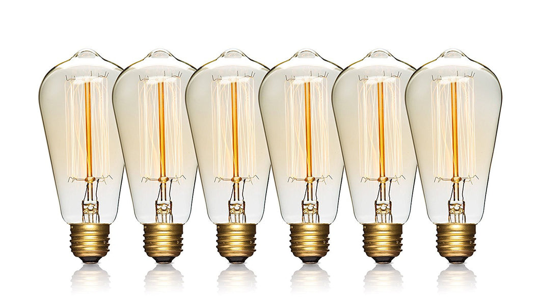 Edison Light Bulbs - 6 Pack - Vintage Bulbs