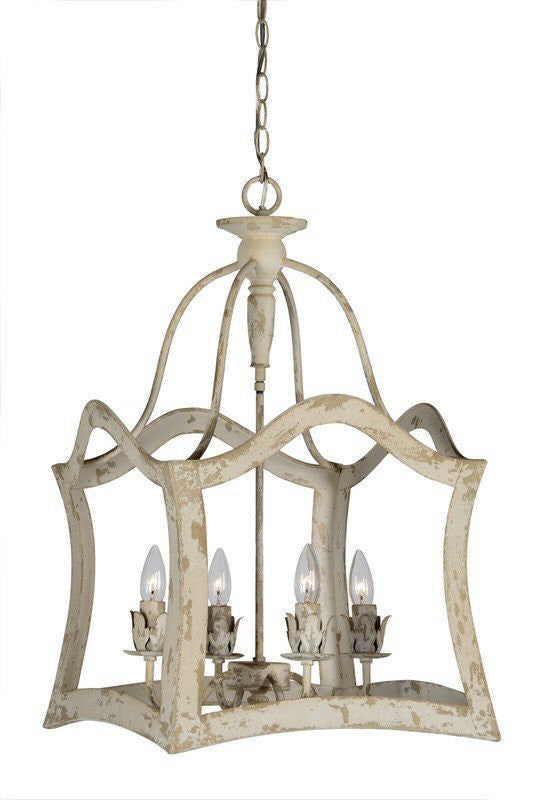 White lantern french country chandelier lightlady studio white lantern french country chandelier mozeypictures Images