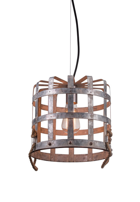 Farmhouse Lighting - Basket Pendant Light - Industrial Lighting