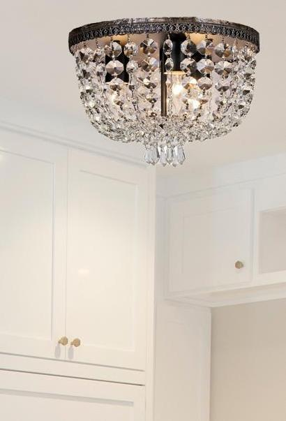 Flush Mount Crystal Chandelier
