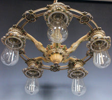 Early 1900's Antique Chandelier - Downlight