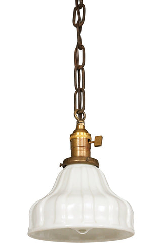 Antique Glass Shade Pendant Light