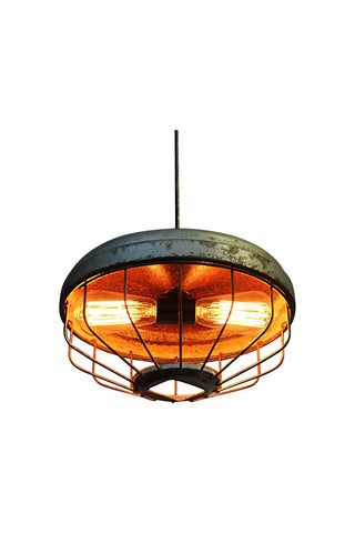 Chicken Feeder Pendant Light with Double Socket
