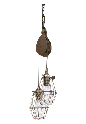 Antique Pulley Pendant Light