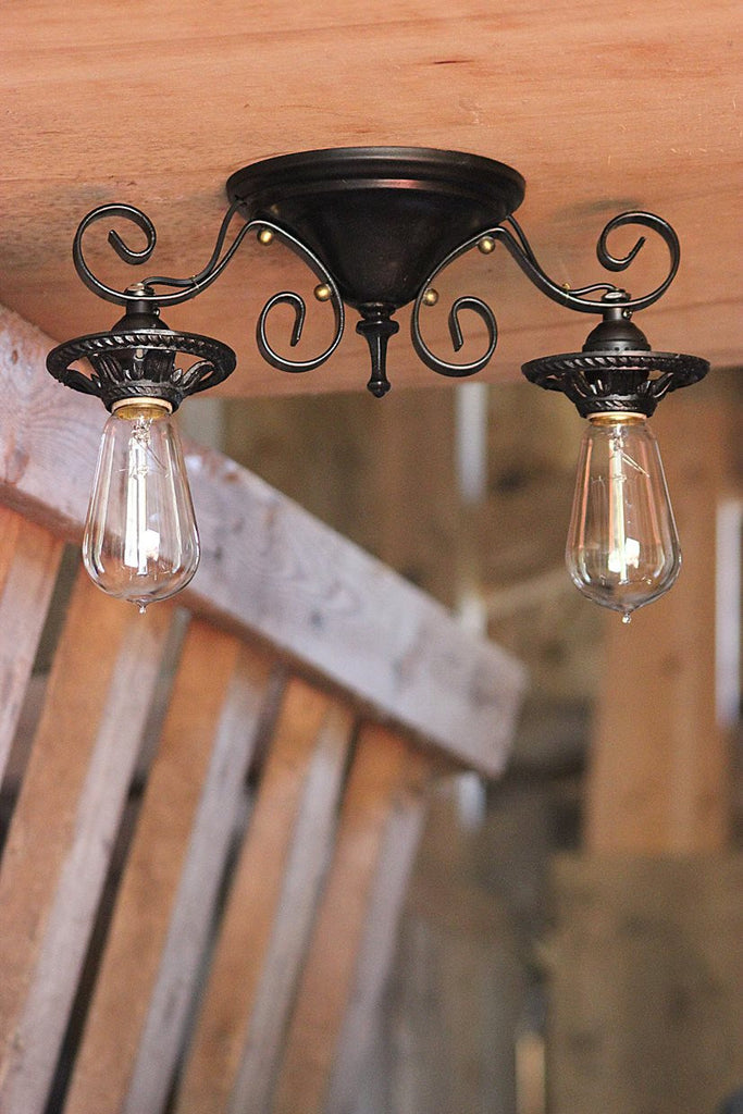 Antique Flush Mount Fixture