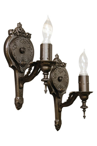 Elegant Single Arm Antique Sconces