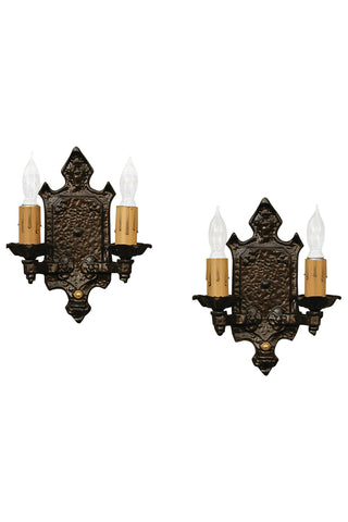 Antique Iron Tudor Sconces