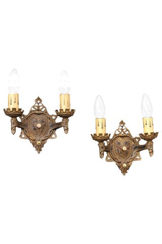 Antique Brass Sconces