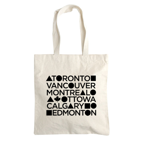 Canadian Cities tote bag 12oz.