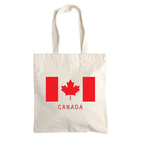 Canadian flag tote bag 4.5oz.