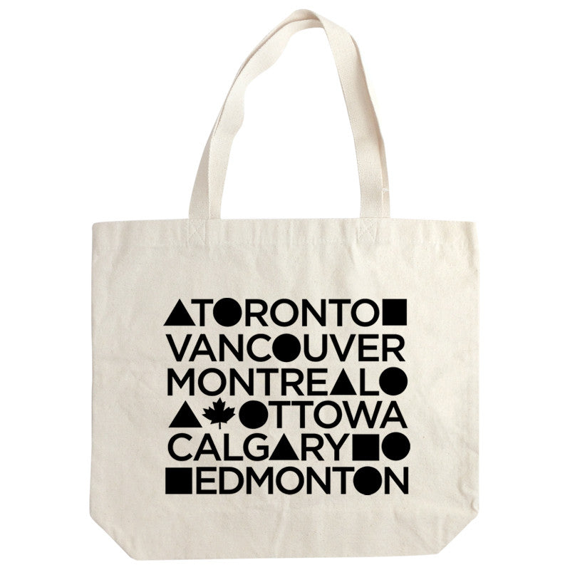 Canadian Cities tote bag 12oz. gusset