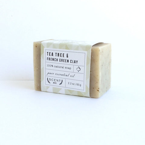 Tea Tree & French Green Clay mini soap 2.2oz