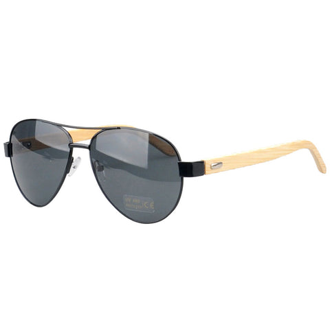 Jacaranda Aviator Sunglasses (Black)