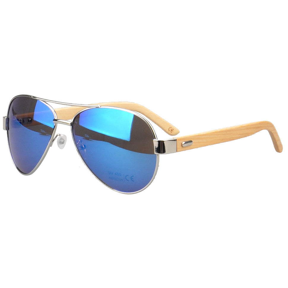 Jacaranda Aviator Sunglasses (Blue mirrored)