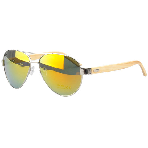 Jacaranda Aviator Sunglasses (Gold mirrored)