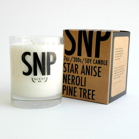 SNP eco-soy candle (CUSTOM ORDER ONLY)