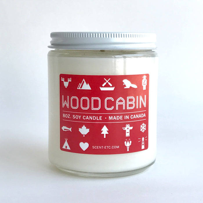 Canadiana candle - 8 oz. Wood Cabin