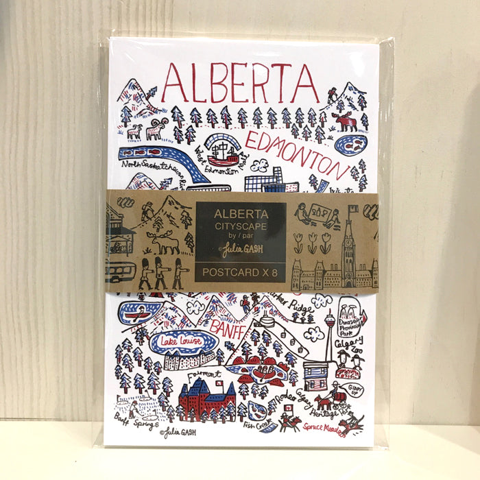 Alberta Cityscape Postcard set of 8