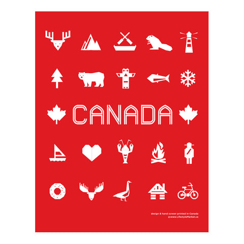 Canadiana Print Art 11 x 14""