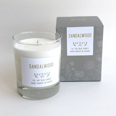 Sandalwood soy wax candle