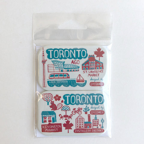 Dasher Toronto magnet set