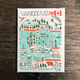 Vancouver Cityscape wood framed Canvas 6 x 8""