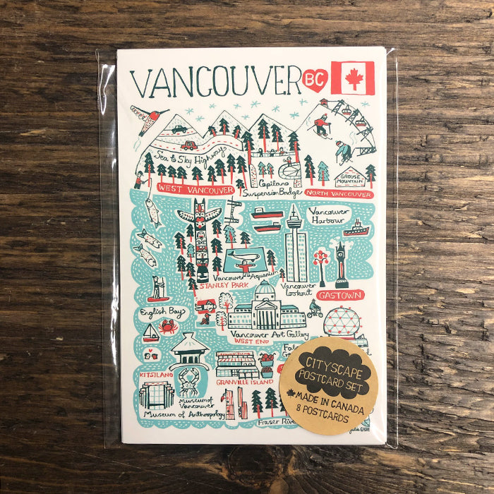 Vancouver Cityscape Postcard set of 8