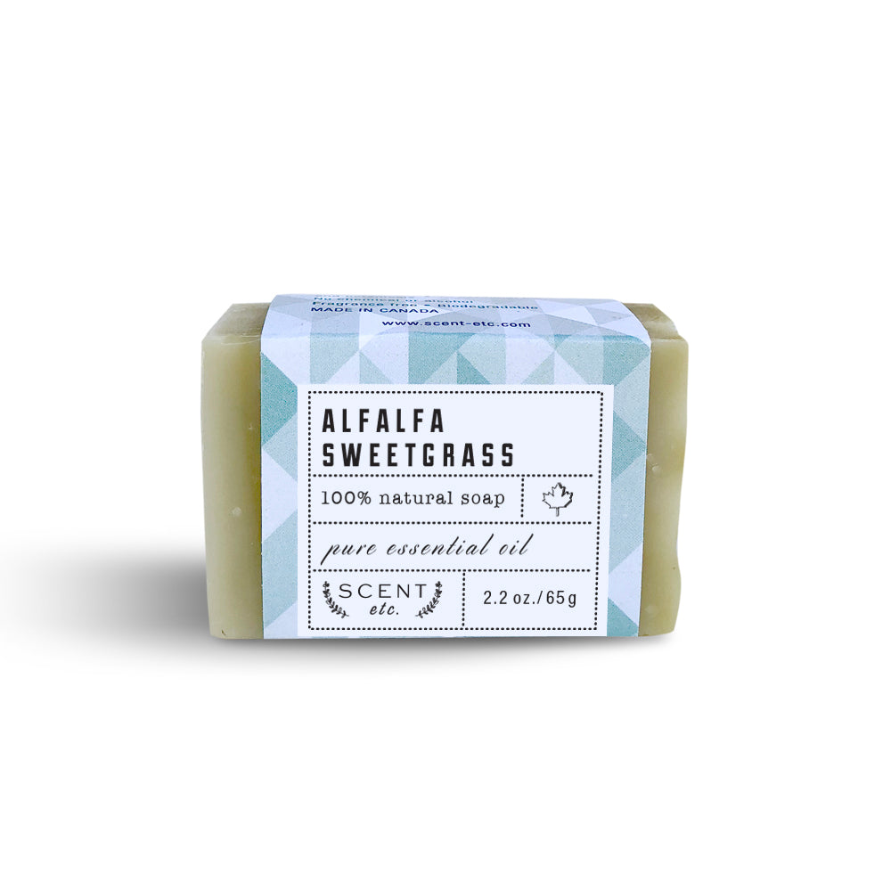 Alfalfa Sweet Grass mini soap