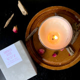 Smoked Rose soy wax candle
