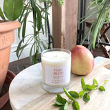 Peach Mojito soy wax candle
