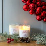 Happy Hoildays soy wax candle