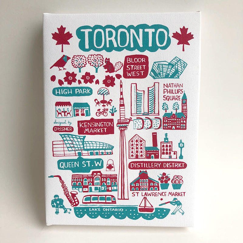 Dasher Toronto Canvas Art 6 x 8""