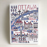 Ottawa Cityscape wood framed Canvas 6 x 8""