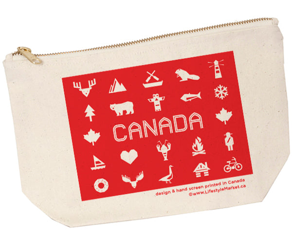 Canadiana Zip Pouch