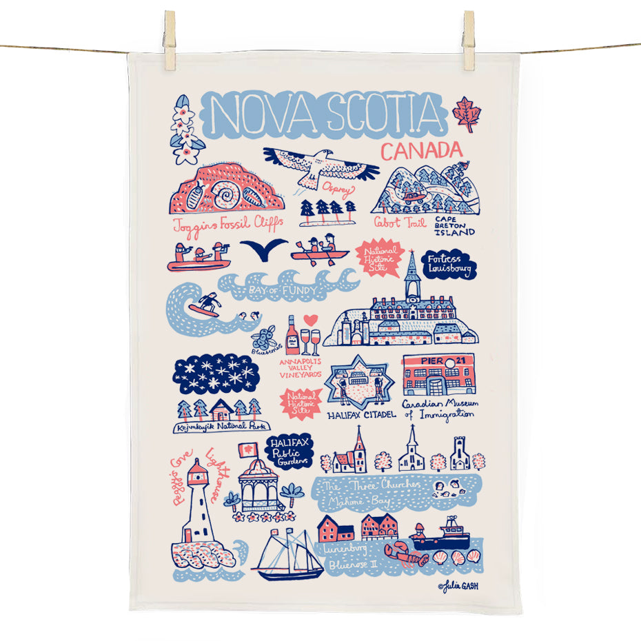 Nova Scotia Cityscape Tea Towel