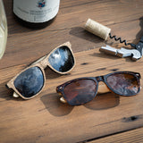Cork Sunglasses (Blue) Polarized