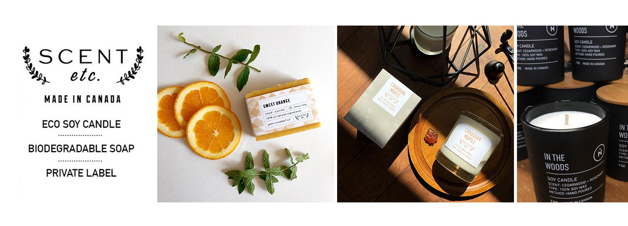 Scent etc. soap, candle & private label