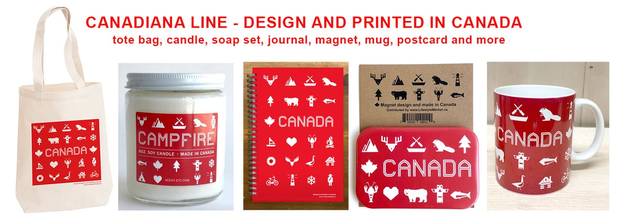 Canadiana design and print in Canada