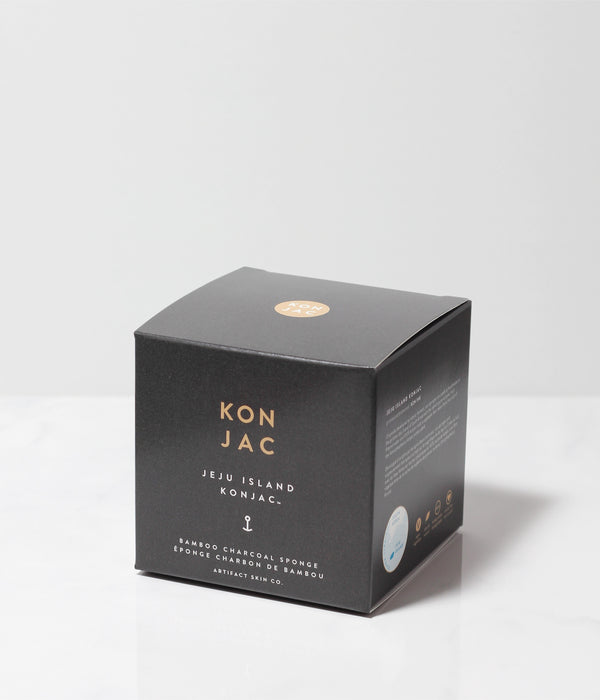 Jeju Island Bamboo Charcoal Konjac Sponge - Artifact Skin Co.