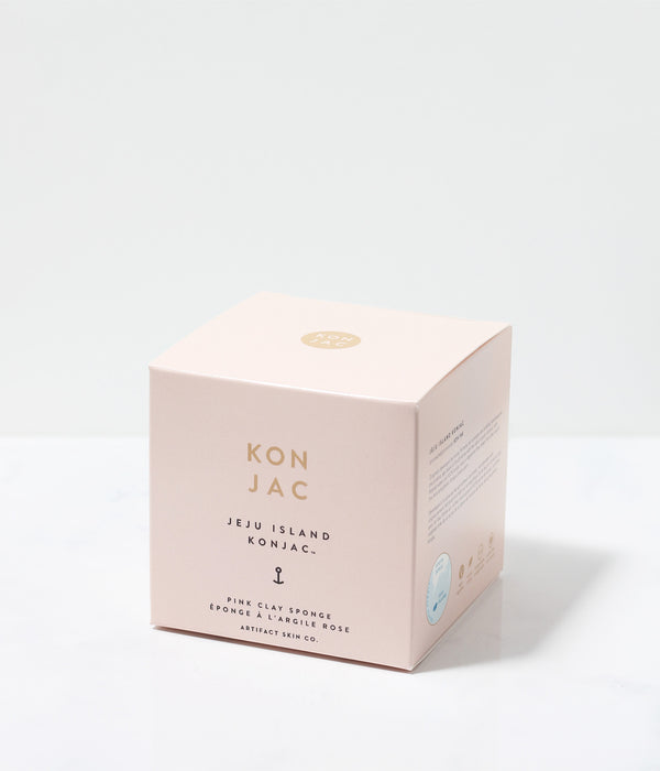 Jeju Island Pink Clay Konjac Facial Sponge - Artifact Skin Co.